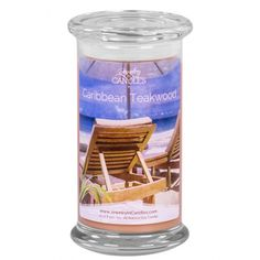 #Caribbean #Teakwood #Candle. Caribbean Teakwood is a sensual blend of leather and amber intertwined with a spicy mixture of black tea and pepper. The base aroma is aged teakwood with tones of patchouli and sandalwood.