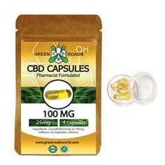 CBD Hemp Oil Capsules for sale by Green Roads World | Cannabidiol capsules are derived from industrial hemp