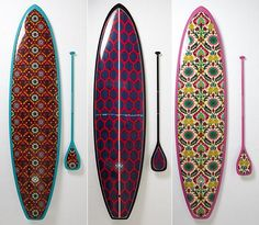 Radical. Even SUP boards have the line on the Jewel-color trend this season.
