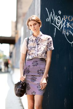 mixing purple prints
