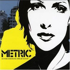 "The album art for Metric's ""Old World Underground, Where Are You Now?"" features spaciality most prominently in the white/black spaces that make up the physical features of singer Emily Haines while a yellow outline defines the profile of guitarist Jimmy Shaw."