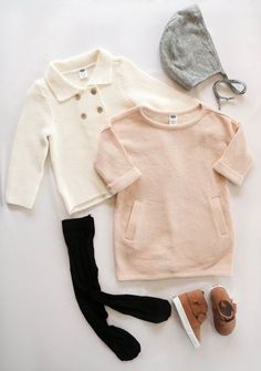 Toddler Girl Fall Baby Clothes Dressy Look Outfit Baby Girl Fall Outfits, Winter Baby Clothes, Winter Outfits For Girls, Baby Girl Winter, Little Girl Outfits, Little Girl Fashion, Autumn Clothes, Summer Clothes, Beach Clothes