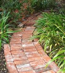 Image result for using old brick as edging