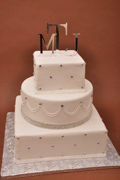 Bethel Bakery Wedding Cake - Glitz and Glamour with Gems