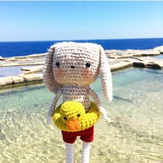 We love this crochet toy created by using DMC Just Natura Cotton 🏊♀️ Crochet Toys, Teddy Bear, Photo And Video, Embroidery, Cotton, Animals, Instagram, Amigurumi, Needlework