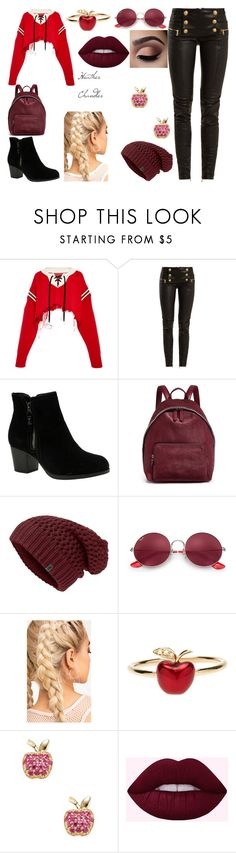 """""""Heather Chandler"""" by zecelina on Polyvore featuring Monse, Balmain, Skechers, STELLA McCARTNEY, Ray-Ban, Alison Lou and Sydney Evan"""