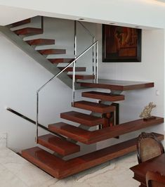 The Beautiful Staircase Decor Of The House Becomes Comfortable Stairs Design Modern Beautiful Comfortable Decor House st. Stair Railing Design, Staircase Railings, Staircase Landing, Railing Ideas, Wooden Staircases, Stair Treads, Stairs Architecture, Architecture Design, Escalier Design