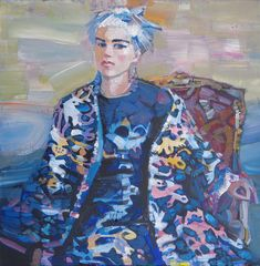 Izabella Chulkova   The girl in blue (2016)   Available for Sale   Artsy Affordable Art Fair, This Is Us, Artsy, Princess Zelda, Canvas, Gallery, Artwork, Blue, Painting