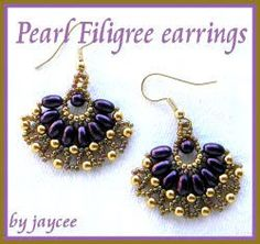 pearl filigree earrings pattern www.jayceepatterns.com