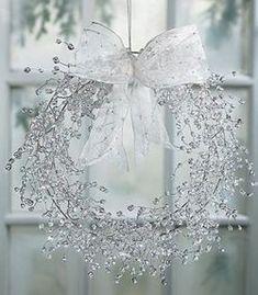 Clear Beaded Wreath