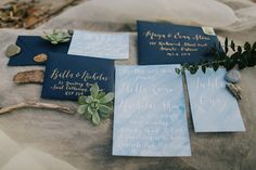 Seaside Wedding invitation suite by Cecile Lau Calligraphy.  I felt so honoured to have been a part of this styled shoot that has been featured on 100 Layer Cake!