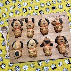 Polymer Clay Art, Dog Treats, Gingerbread Cookies, Snoopy, Teddy Bear, Kawaii, Sweets, Baking Ideas, Peanuts