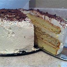Tiramisu layer cake - awesome recipe