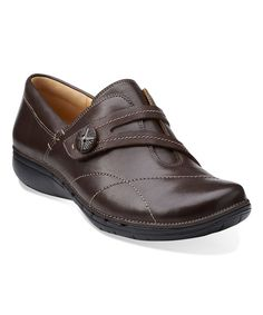 Look at this Clarks Brown Un Esma Leather Loafer on #zulily today!