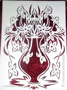 Картина панно рисунок Вырезание цветы Бумага фото 2:
