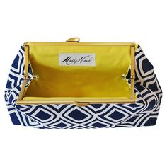 I pinned this Maddy Nash Wavy Navy Clutch with Chartreuse Interior from the Bright & Bold Accessories event at Joss and Main!