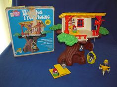 Vintage Weebles Tree House Playset w/ Original Box from 1975 w/ extra Weebles!!