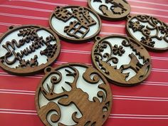 Christmas Booth, 3d Christmas, Christmas Ornaments To Make, Christmas Decorations, Christmas Signs, Personalised Christmas Baubles, Laser Cutter Projects, Laser Art, Handmade Gift Tags