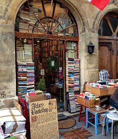 Paris is perfect for book lovers! The Abbey Bookshop in the Latin Quarter . photo by Shelley McDonald Book Cafe, Most Romantic Places, Book Aesthetic, Book Nooks, Library Books, Book Photography, I Love Books, Belle Photo, Book Lovers