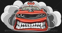Buy Angry Car by on GraphicRiver. Vector illustration of a sports car in a cartoon style Car Drawings, Cartoon Drawings, A Cartoon, Cartoon Styles, Angry Car, Vector Graphics, Vector Free, Graphic Design Programs, Ai Illustrator