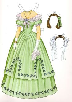 Godey's EARLY VICTORIAN Fashions - CHARLOTTE (1838 - 1858) 19th Century Fashion by Ming-Ju Sun
