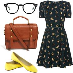 swallow birds by peppahwood on Polyvore featuring Oasis, ASOS and Oliver Peoples