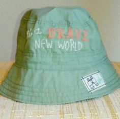 a745fc2a66d Baby Gap Bucket Hat with Stitched Lettering and Patch Size 0-6 Months   babyGap