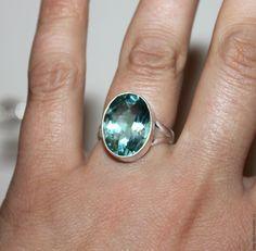 """Купить Кольцо """"Апатит""""серебро - голубой, кольцо аметрин, серебро 925 пробы, золотисто-сиреневый"""