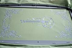 Guitar machine embroidery design