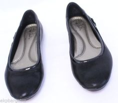 New-With-Flaws-LifeStride-Womens-Allerina-Flat-Black-6-5M-W480