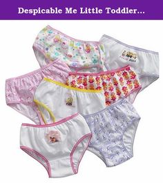 Despicable Me Little Toddler Minions 7 Pack Underwear Panties 2T-4T (4T). 7 pairs of ultra soft combed cotton underwear featuring Despicable Me 2 characters.