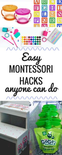 These Montessori hacks are super easy and really doable. Every toddler parent should try these ideas at home! Teach your toddler to be more independent and self-confident with these simple Montessori-based tricks.