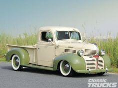 1941 #Dodge #Truck looking beautiful in green. #PickUp #Classic #American #Style #Design