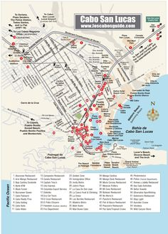 Cabo San Lucas Map - Los Cabos Guide                                                                                                                                                      More