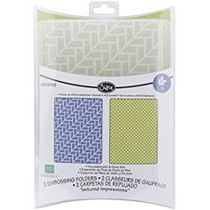 Sizzix Textured Impressions A2 Embossing Folders by Echo, Houndstooth and Dots Park, 2-Pack Review