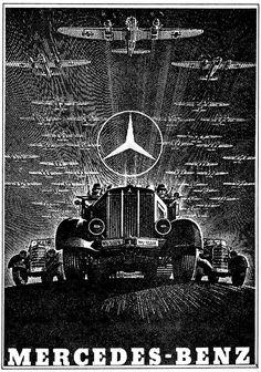German WWII-era Mercedes-Benz Nazi propaganda poster