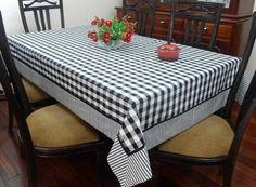 Resultado de imagem para toalha de mesa BRANCO E PRETO