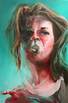 Virginia Broersma, Green Exhaustion, oil on canvas, 2012 Define Art, French Art, Art Blog, Creative Art, Oil On Canvas, Virginia, Portrait, Artist, Artwork
