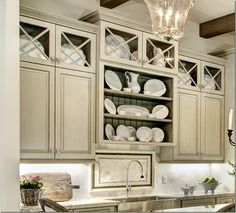 Closeup of the cabinets – love those Xs!!