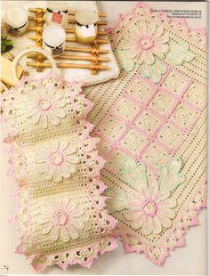 Wilma Crochê: Jogo de banheiro crochê