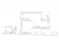 Architectural Townhouse Drawing / Rendering - By Elding Oscarson Architects