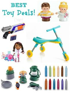 I like to have a stockpile of toys for last minute birthday gifts. These are some great ideas.