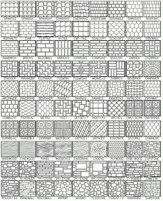 Click To View 365 Hatch Patterns (1/5). http://www.simplecad.com/autocad-hatch-patterns.htm