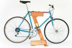 DIY bicycle rack
