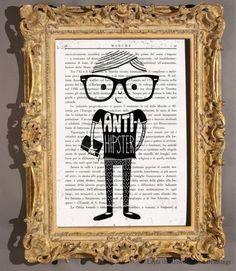 Anti-hipster illustrazione // Anti-hipster illustration by laylaozart via it.dawanda.com  #nerd