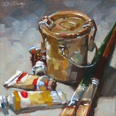 Oil Painting tools Inspirational Karen Werner Fine Art Grungy Goodness An Oil Painting Of Art Shed, Painting Still Life, Beautiful Paintings, Art Studios, Painting & Drawing, Painting Tools, Art Oil, Painting Inspiration, Art Projects
