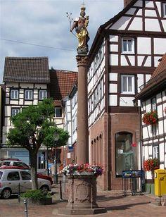 Buchen/Odenwald - Germany - Mariensäule