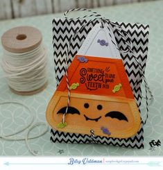 Candy Corn Treat Bag by Betsy Veldman for Papertrey Ink (August 2015)