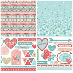 Valentine's Day free papers and toppers from Papercraft Inspirations magazine