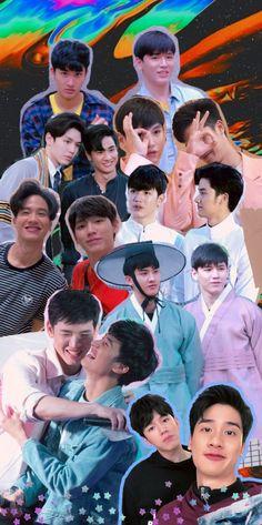 Blue Wallpaper Iphone, Blue Wallpapers, Dark Wallpaper, Dramas, Thailand Wallpaper, Thai Drama, Cute Actors, Future Husband, Aesthetic Wallpapers